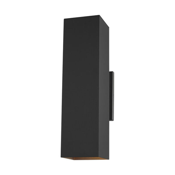 Pohl Black 19-Inch Two-Light Outdoor Wall Sconce with Tempered Glass Shade, image 1