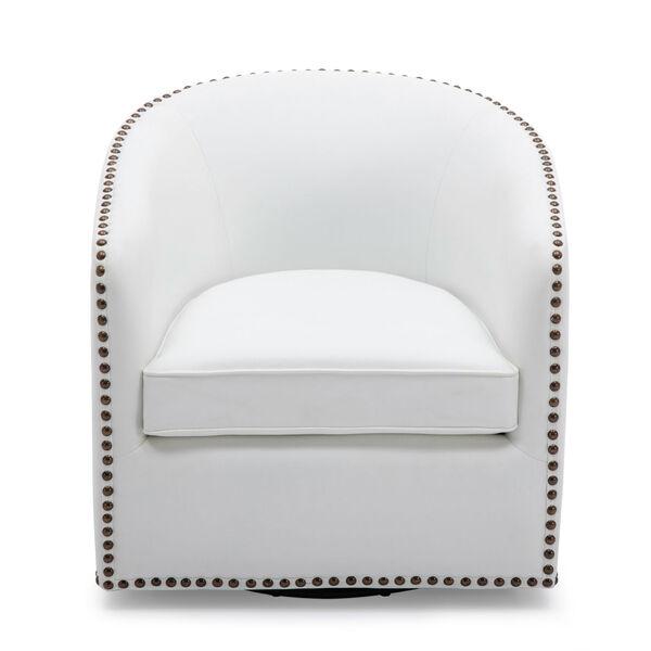 Tyler Milky Swivel Arm Chair, image 2