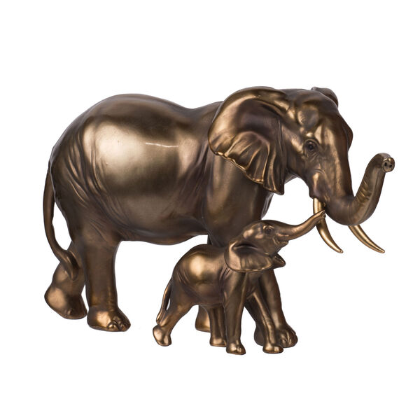 Copper Seven-Inch Elephant Statue, image 1