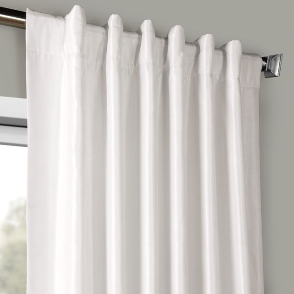 Ice Vintage Textured Faux Dupioni Silk Single Panel Curtain, 50 X 120, image 4