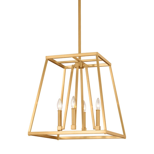 Conant Gilded Satin Brass 18-Inch Four-Light Pendant, image 2
