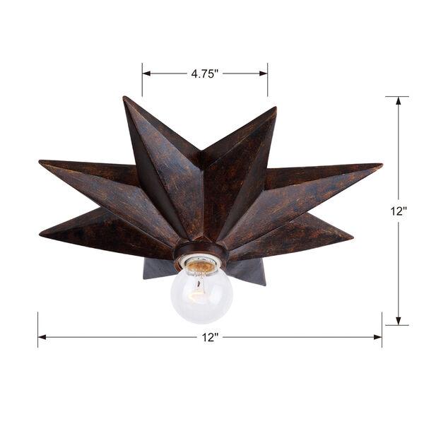Astro English Bronze One-Light Flush Mount, image 3