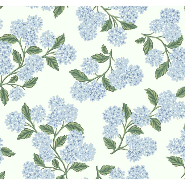 Rifle Paper Co. Blue and White Hydrangea Wallpaper, image 2