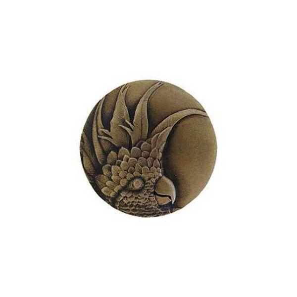Antique Brass Large Cockatoo Knob-Left, image 1