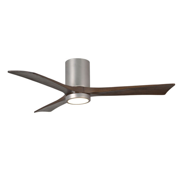 Irene Brushed Nickel 52-Inch Ceiling Fan with Three Walnut Tone Blades, image 3