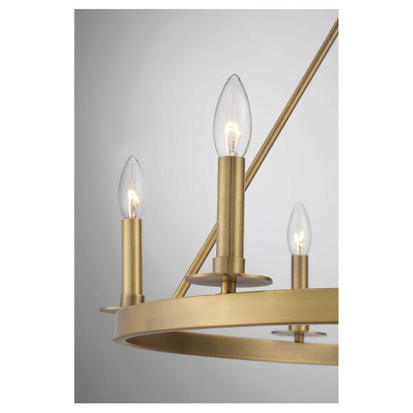 Linden Natural Brass Six-Light Chandelier, image 6