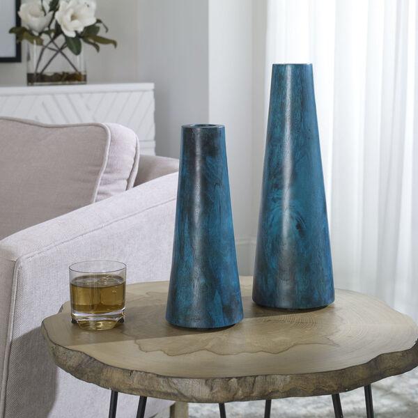Mambo Blue Vase, Set of 2, image 1