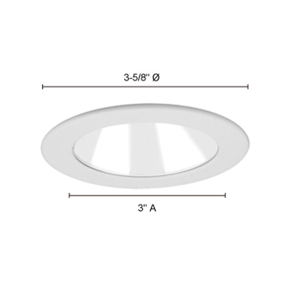 Chrome and White 3-Inch Trim with Adjustable Open Reflector, image 3