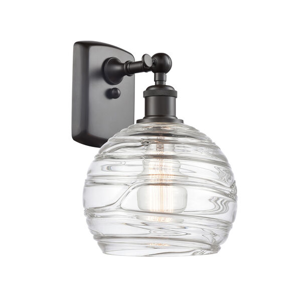 Ballston Oil Rubbed Bronze Eight-Inch One-Light Wall Sconce with Clear Glass Shade, image 1