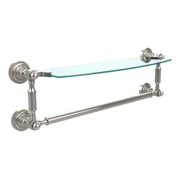 Polished Nickel Single Shelf with Towel Bar, image 1