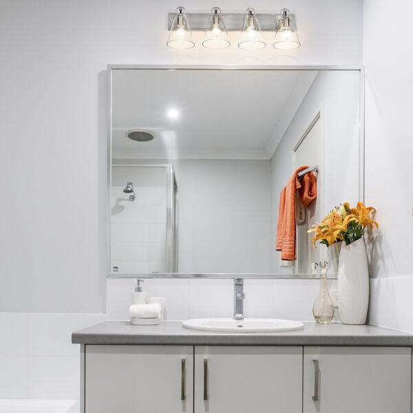 Harper Brushed Nickel Four-Light Bath Vanity, image 2