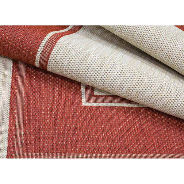 Lodge - Redwood Red 7-Feet 10-Inch x 10-Feet Rectangle Outdoor Rug, image 2