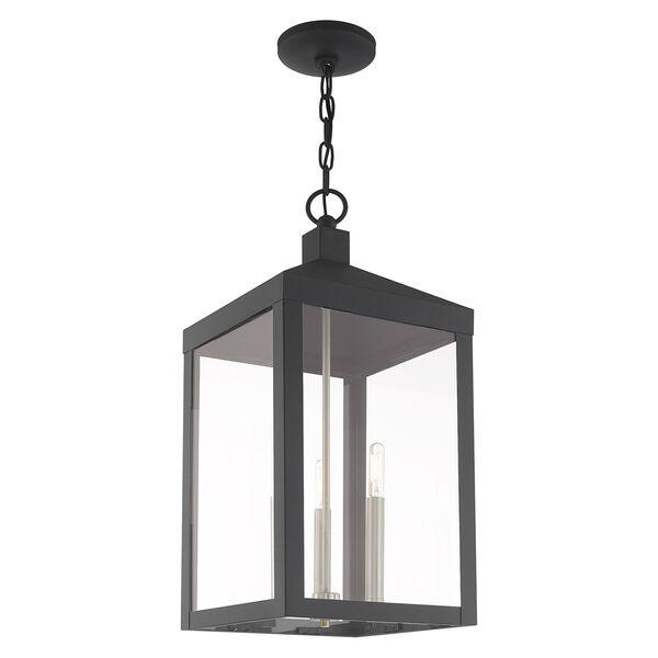 Nyack Scandinavian Gray 11-Inch Three-Light Pendant Lantern, image 5