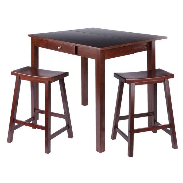 Perrone Walnut Three Piece High Table Set, image 1