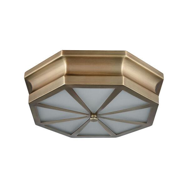 Windsor Classic Brass 16-Inch Three-Light Flush Mount, image 5