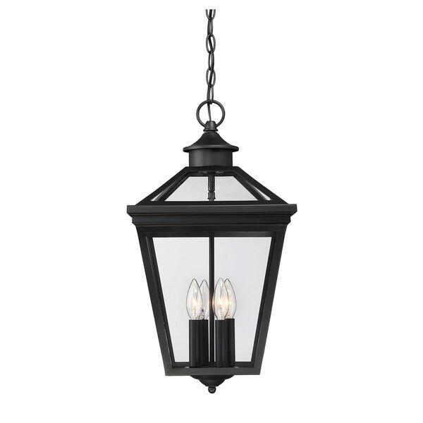 Ellijay Black Four-Light Outdoor Pendant, image 1