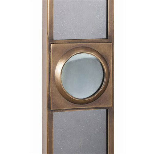 Baldwin Antique Brass and Glass Mirror, image 3