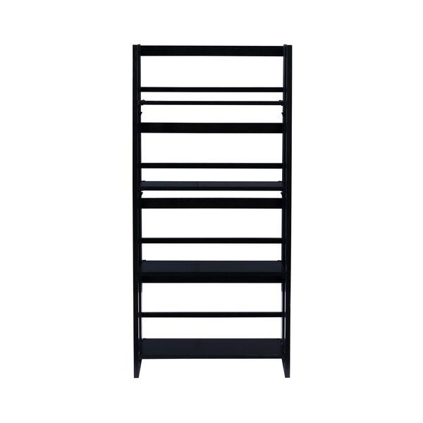 Olivia Black Folding Bookcase, image 2