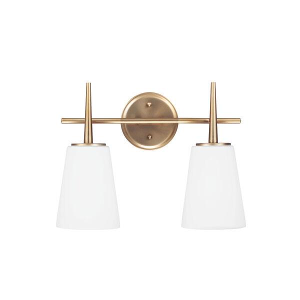 Driscoll Satin Brass Energy Star Two-Light LED Bath Vanity, image 1