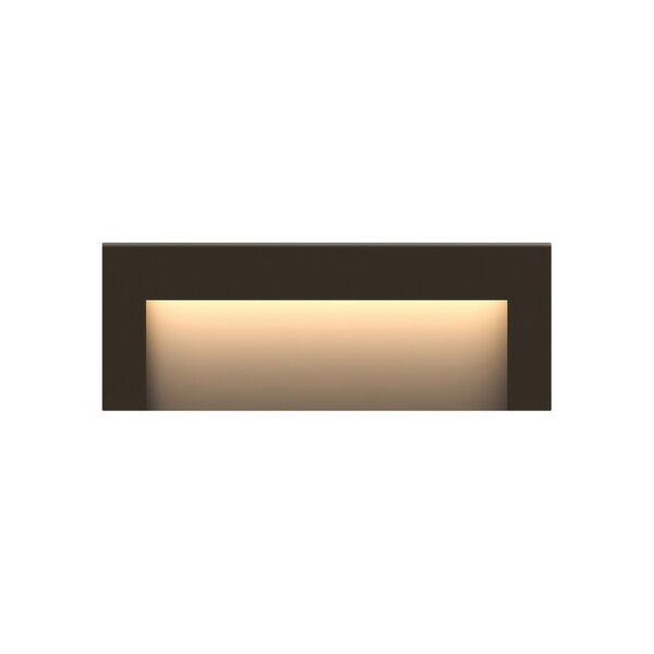 Taper Bronze Eight-Inch ADA LED Outdoor Step Light, image 1