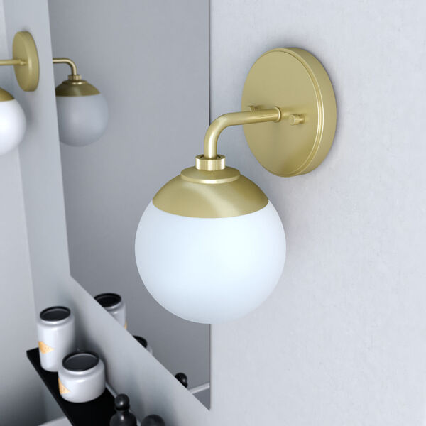 Hepburn Painted Modern Brass One-Light Wall Sconce, image 3