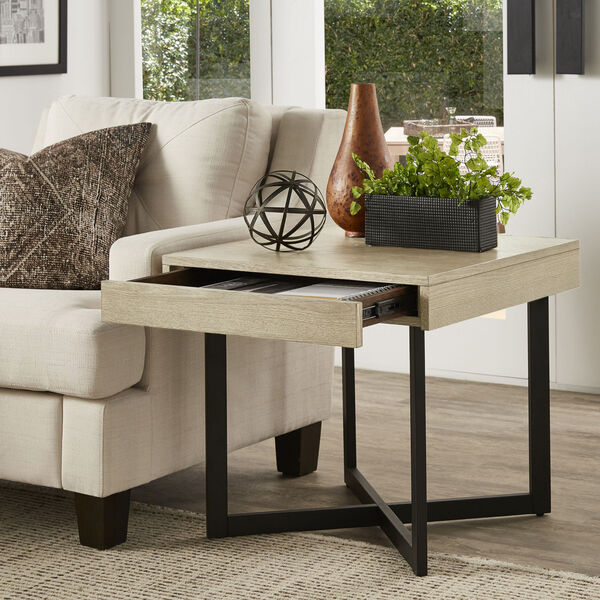 Hunter White End Table with One Drawer, image 6