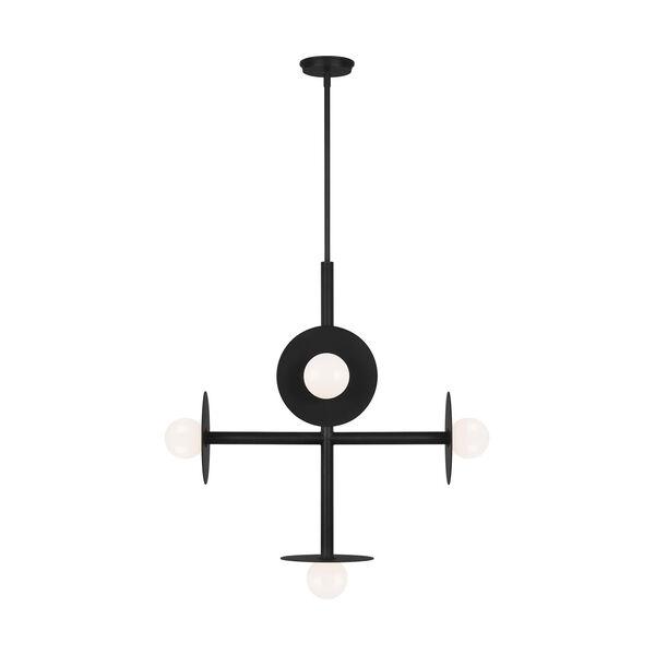 Nodes Midnight Black Large Chandelier, image 1