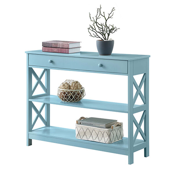 Oxford Sea Foam One Drawer Console Table, image 5