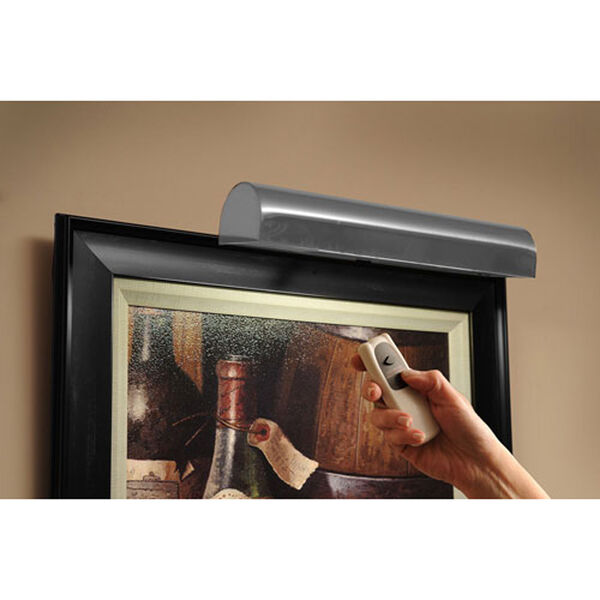 Satin Nickel Cordless LED Remote Control Picture Light, image 1