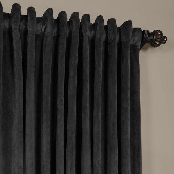 Gunmetal Gray 120 x 100-Inch Doublewide Blackout Velvet Curtain, image 4
