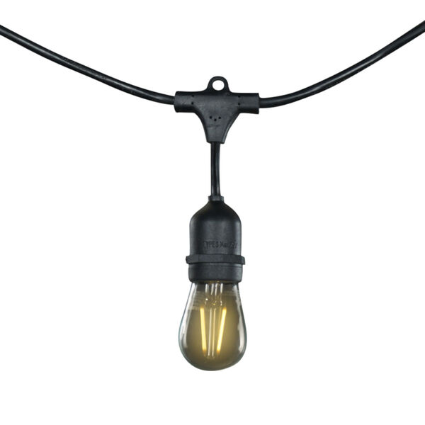 Black S14, E26 25-Feet 15-Light String Light, image 1