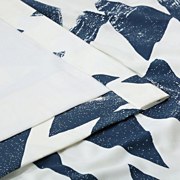 Triad Indigo 84 x 50 In. Printed Cotton Twill Curtain Single Panel, image 6