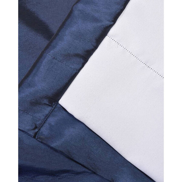 Navy Blue 84 x 50-Inch Blackout Faux Silk Taffeta Curtain Single Panel, image 4