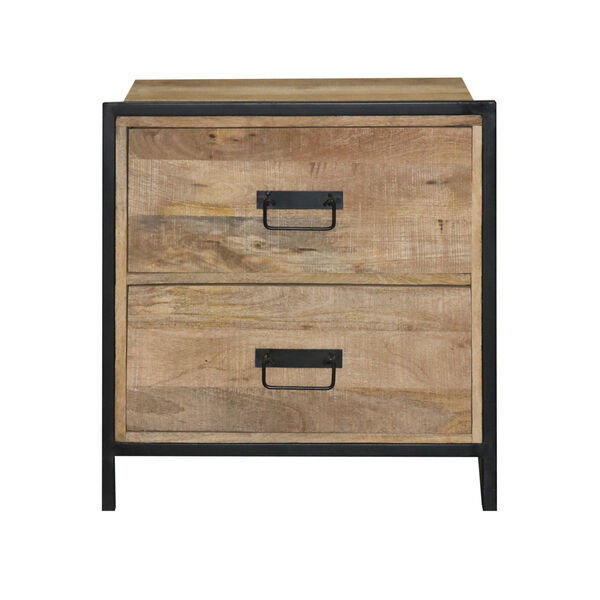 Outbound Natural and Black Nightstand, image 1