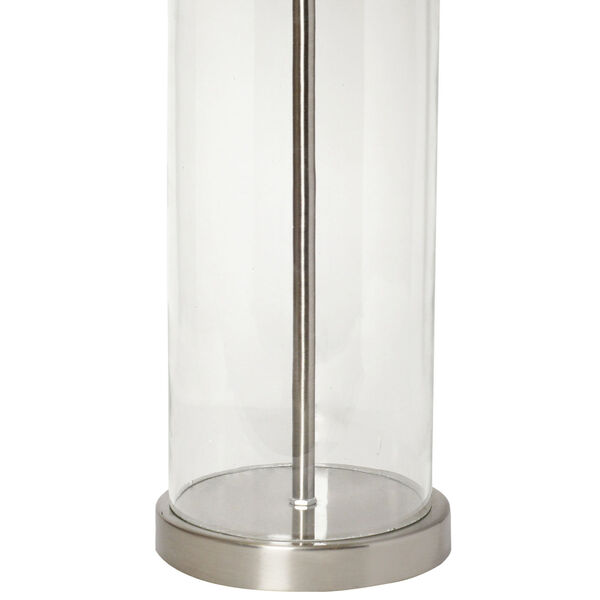 Cerise Brushed Nickel White One-Light Table Lamp, image 4