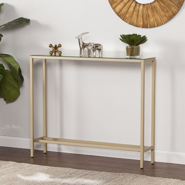 Darrin Metallic Gold 36-Inch Console Table, image 1