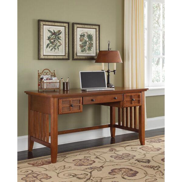 Arts and Crafts Cottage Oak Executive Desk, image 1