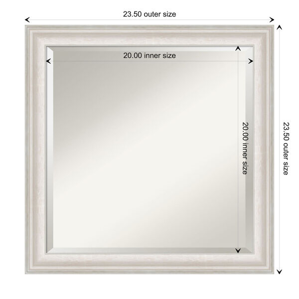 Trio White and Silver 24W X 24H-Inch Bathroom Vanity Wall Mirror, image 6
