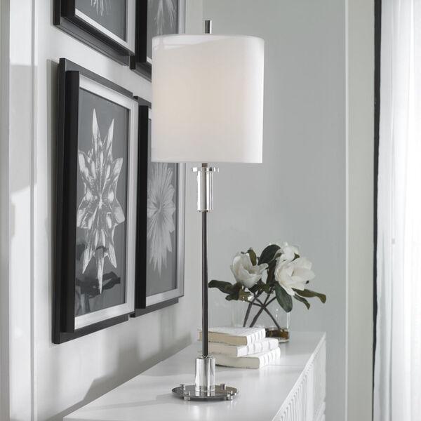 Aurelia Polished Nickel One-Light Buffet Lamp, image 6