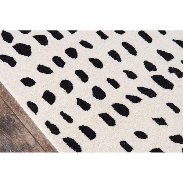 Delmar Boho Dots Black and White Rug, image 4
