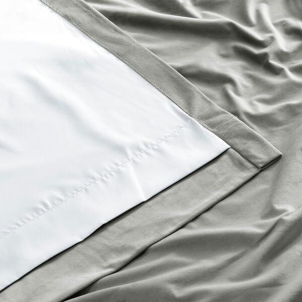 Signature Silver Grey Blackout Velvet Pole Pocket Single Panel Curtain, 50 X 108, image 8