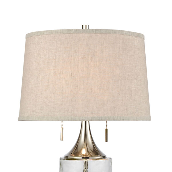 Tribeca Clear Polished Nickel Two-Light Table Lamp, image 3