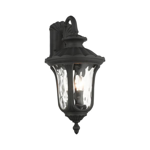 Oxford Textured Black 11-Inch Three-Light Outdoor Down Light Wall Lantern, image 3