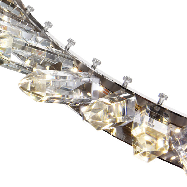 Arctic Queen Polished Nickel 32-Inch LED Chandelier, image 6