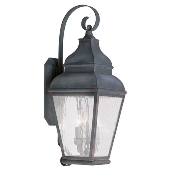 Exeter Charcoal Three-Light Outdoor Wall Lantern, image 1