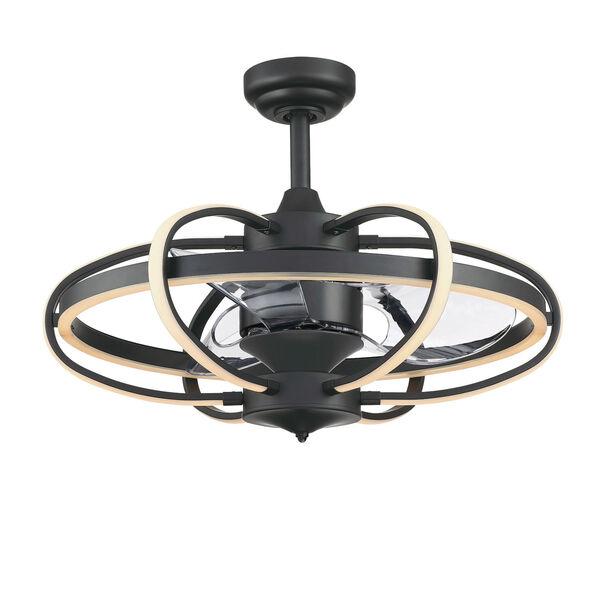 Obvi Black 26-Inch Six-Light LED Indoor Ceiling Fan, image 1