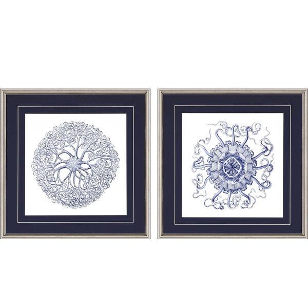 Navy Gems I Blue Framed Art, Set of Two, image 2
