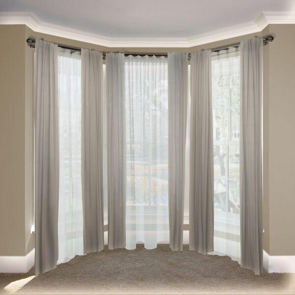 Eleanor Black 108-Inch Bay Window Double Curtain Rod, image 2