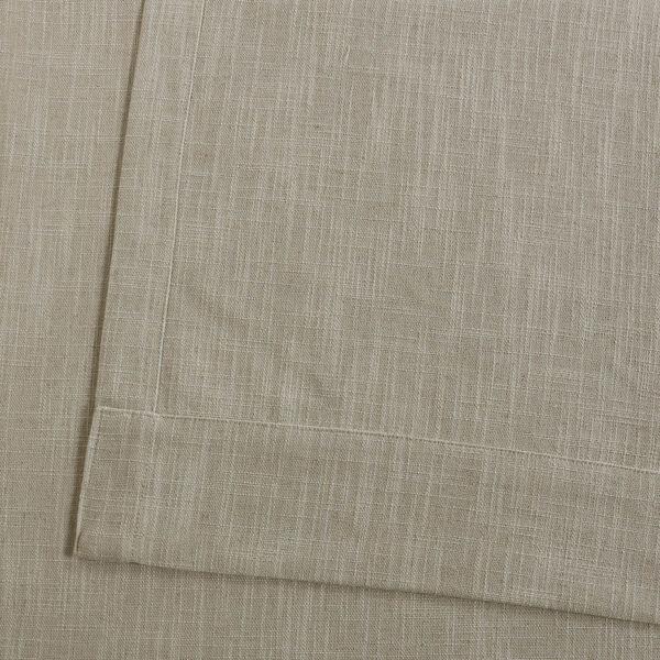 Ash Grey Heavy Faux Linen 96 x 50 In. Curtain Single Panel, image 6