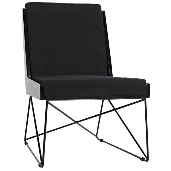 Wiki Black Armless Chair, image 1